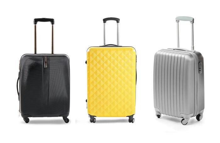 Koffer mit 4 Rollen - Schwarz Gelb Grau